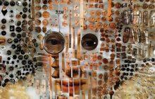 Portraits na likha mula sa test tubes at pushpins