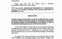 PET ibinasura ang hirit ni VP Robredo na ikunsiderang valid vote ang 25% shading sa balota