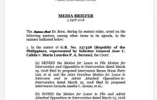 Korte Suprema magdaraos ng Oral Arguments sa April 10 sa Baguio City kaugnay sa Quo Warranto petition laban kay Chief Justice on-leave Sereno