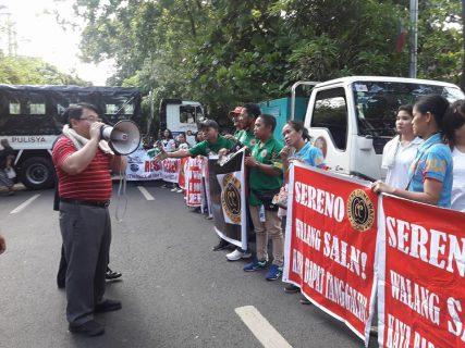 Kahabaan ng Padre Faura sa Maynila, isinara dahil sa pagtitipon ng mga Pro at Anti Sereno