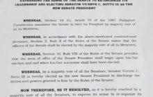 Labinlimang Senador lumagda na sa resolusyon para patalsikin si Senate President Koko Pimentel