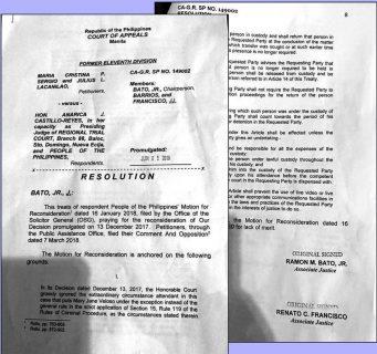 Court of Appeals, pinal na ibinasura ang apela na payagang kuhanan ng out-of-court testimony si Mary Jane Veloso
