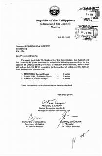 SC Justice Samuel Martires nanguna sa shortlist ng JBC para sa posisyon ng Ombudsman...Labor Sec Silvestre Bello III nadiskwalipika