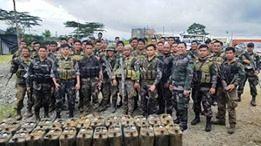 Bilang ng mga sumusukong NPA sa Northern Mindanao, patuloy na nadaragdagan...mga food items mula sa extortion activities, narekober sa Bukidnon