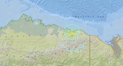 Alaska niyanig ng magnitude 6.4 na lindol
