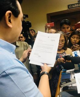 Mga dokumento mula sa Dept. of National Defense kaugnay ng application para sa amnestiya, inilabas ni Sen. Trillanes