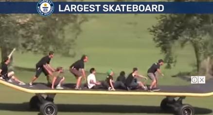 Pinakamalaking Skateboard sa mundo