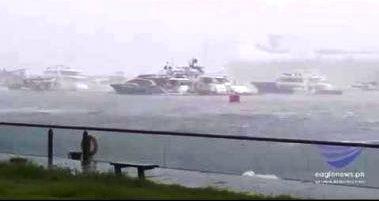 Bagsik ng typhoon Mangkhut o bagyong Ompong nararamdaman na sa China