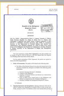 Korte Suprema inilatag ang mga isyung tatalakayin sa oral arguments kaugnay sa petisyon laban sa ikatlong pagpapalawig ng Batas Militar sa Mindanao