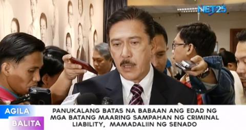 Panukalang batas na babaan ang edad ng mga batang maaaring sampahan ng Criminal liability, mamadaliin ng Senado