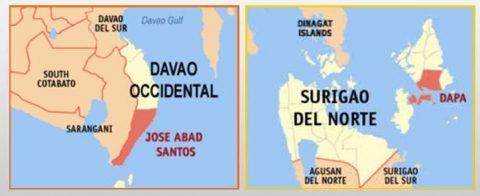 Davao Occidental at Surigao del Norte niyanig ng lindol