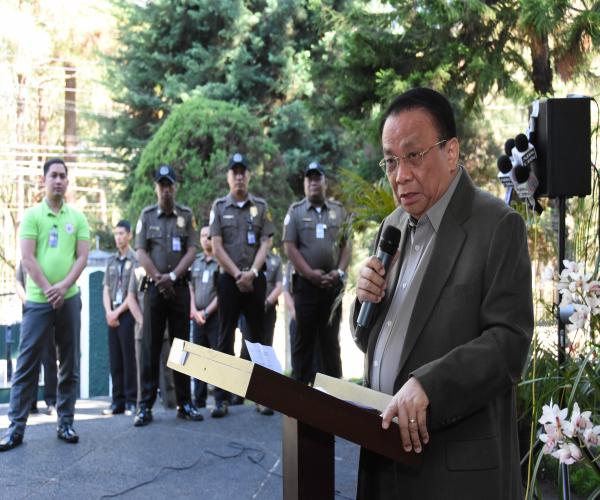 Chief Justice Lucas Bersamin hindi minamaliit ang mga alegasyon na sangkot sa droga ang ilang mga hukom