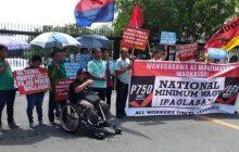 Mga militanteng manggagawa ng gobyerno, nag-rally sa harap ng DBM sa Malacañang complex para salary increase