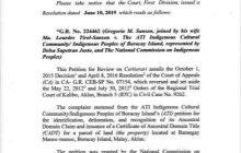 Hurisdiksyon ng National Commission on Indigenous Peoples sa mga kaso at claims    ng mga indigenous peoples, kinilala ng Korte Suprema