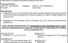 Maynila, may water interruption sa Camanava area sa Aug. 20 at 21