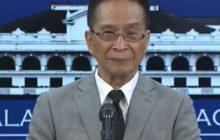 Convicted rapist, murderer at dating Calauan, Laguna mayor Antonio Sanchez, hindi kwalipikado na makinabang sa Good Conduct Time Allowance Law- Malakanyang