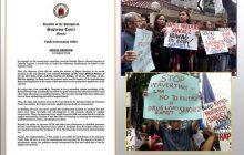 Korte Suprema, nilinaw na hindi iniutos na palayain si dating Calauan, Laguna mayor Antonio Sanchez...Grupong Gabriela, nagkilos-protesta sa DOJ